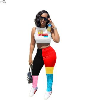 Korean Women Summer High Waist Patchwork Stacked Jogger Sweatpants Sport Casual Bell Bottom Draped Ruched Trouser Clubwear Pants