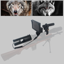 Купить с кэшбэком Hot Sniper Zoom Outdoor Hunting optics sight Scope 4-16X40AOMC Tactical digital Infrared night vision riflescope with IR and LCD
