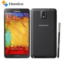 Unlocked Original Samsung Galaxy Note 3 N900 N9005 Phone Quad Core 5.5 8MP 3G WIFI GPS note 3 cell phone Free Shipping