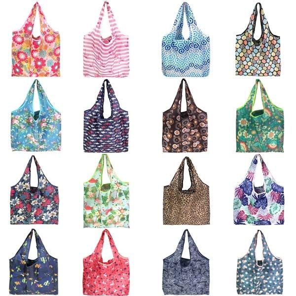 reusable shopping bag foldable polyester bag eco friendly shopping bag large capacity grocery bags folding shopping bag totes