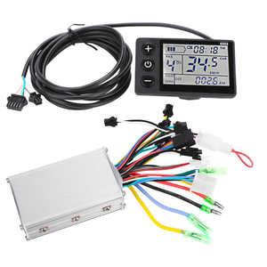 Image 1 - אופניים חשמליים בקר 24V/36V/48V 250W/350W Brushless בקר עם LCD לוח תצוגת חשמלי e אופני קטנוע
