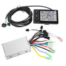 Controlador para bicicleta eléctrica controlador sin escobillas con Panel de pantalla LCD, 24V/36V/48V 250W/350W