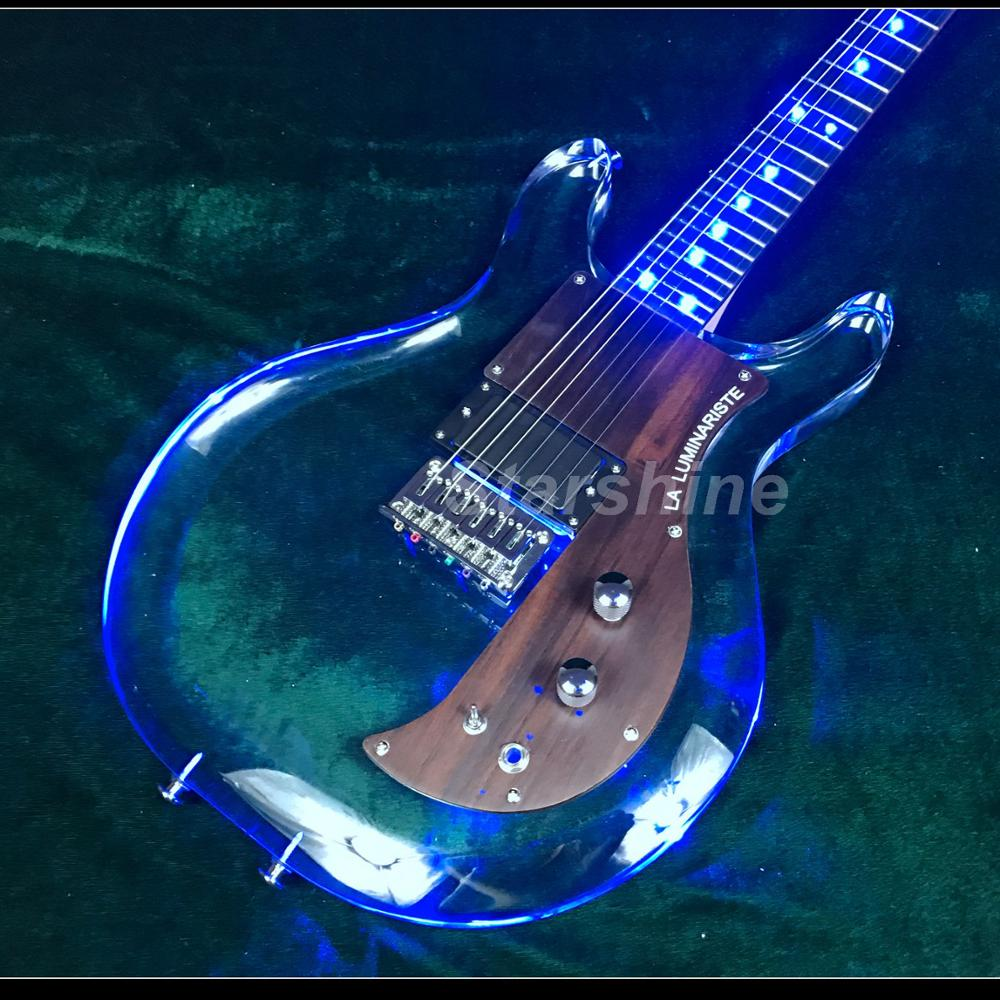T-ED4 LED Light 6string Armstrong Electric Guitar ,one Humbucker Bolt On Neck Armstrongbass Guitar