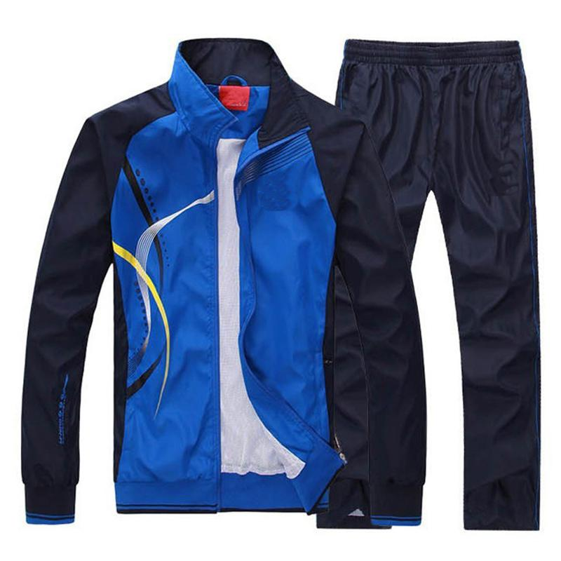 Women Men Sportswear Suit Autumn Spring Jacket Men Set Tracksuit Outwear Brand-clothing Man Sportsuit Hoodies+pant