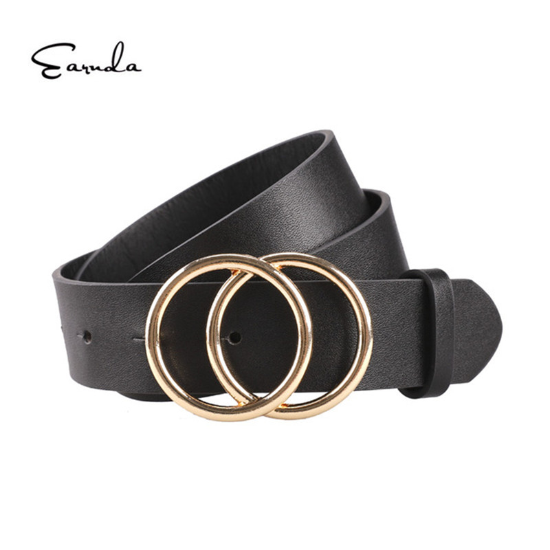 Women Belts For Women's Jeans Fashion Gold Buckle Waist Leather Strap High Quality Designer Strap Belt Cinturon Mujer