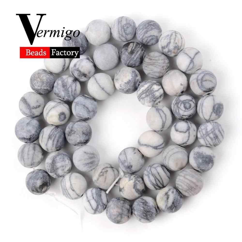 טבעי משעמם מלוטש Agates טייגר עין Jades העגול אבן חרוזים להכנת תכשיטים Spacer חרוזים 4-12mm Diy שרשרת צמיד 15''