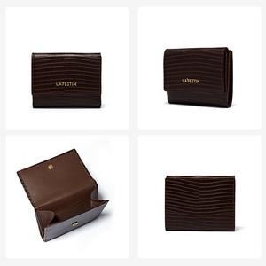 Image 4 - LA FESTIN  Lizard pattern leather tri fold wallet short wallet female compact ultra thin soft leather folding coin purse