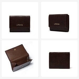 Image 4 - ラfestinトカゲパターン三倍財布短財布女性のコンパクト超薄型ソフトレザー折りたたみコイン財布