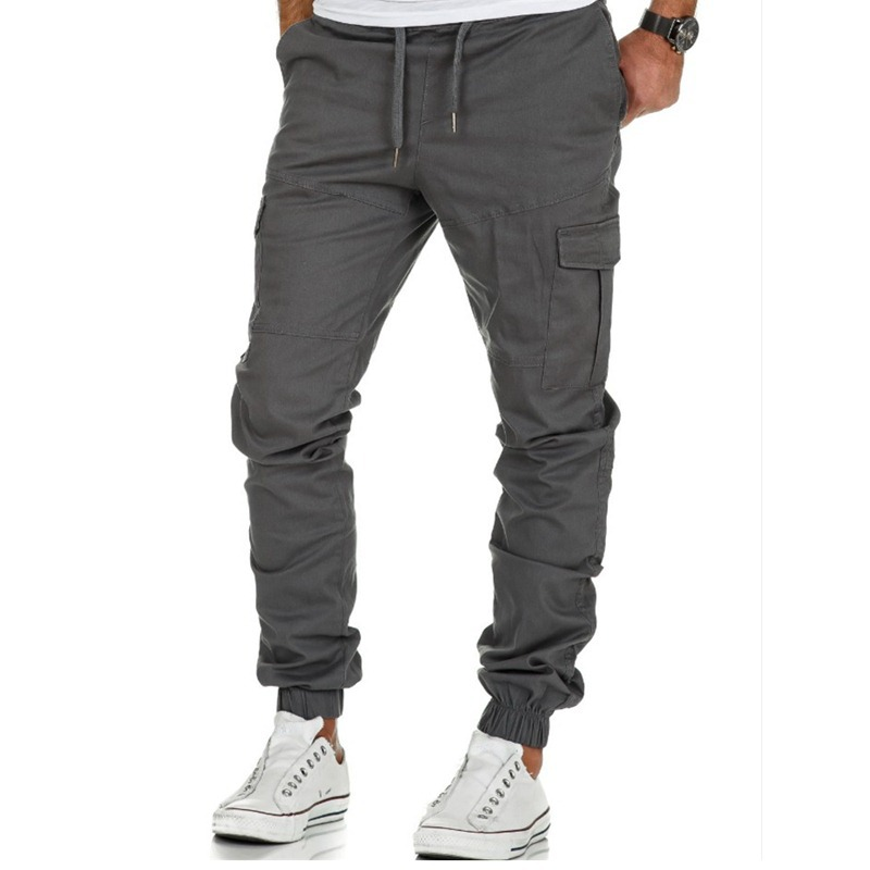2019 Hot Selling Workwear Multi-pockets Trousers Men Tatting Casual Pants Sports Ankle Banded Pants Workwear Ankle Banded Pants