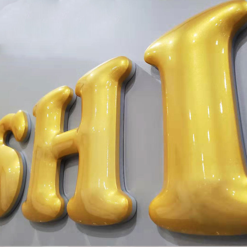 Colorful Paint Acrylic Backlit Letter With Surface In Radian Customize Freely Led Letter Sign
