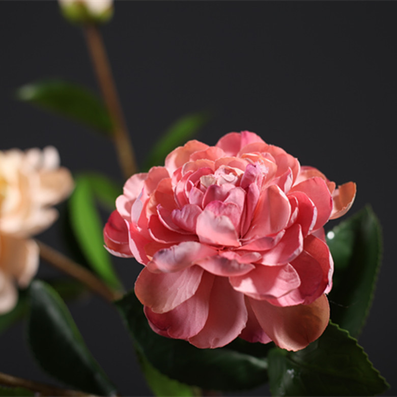 Silk Flowers 6 pcs/set One flower and one bud Tea Rose Branch for home decor