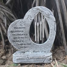 Pet-Memorial-Stones Personalized with Wind-Chimes for Outdoor