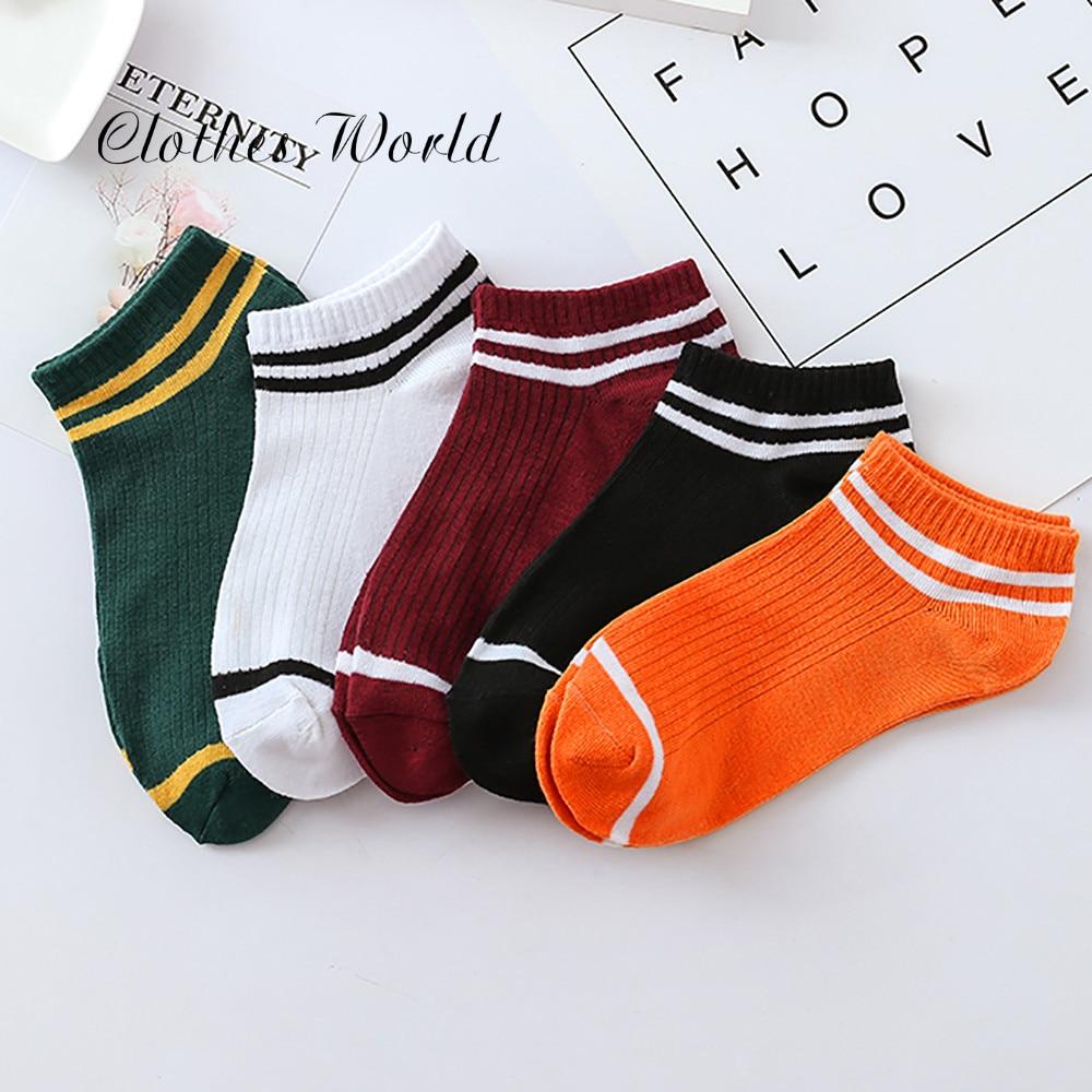 חורף נשים של גרבי כותנה קשת פסים גרבי אופנה חם חג המולד מזדמן גאות גברת גרביים קוריאני 2019 חדש носки женские