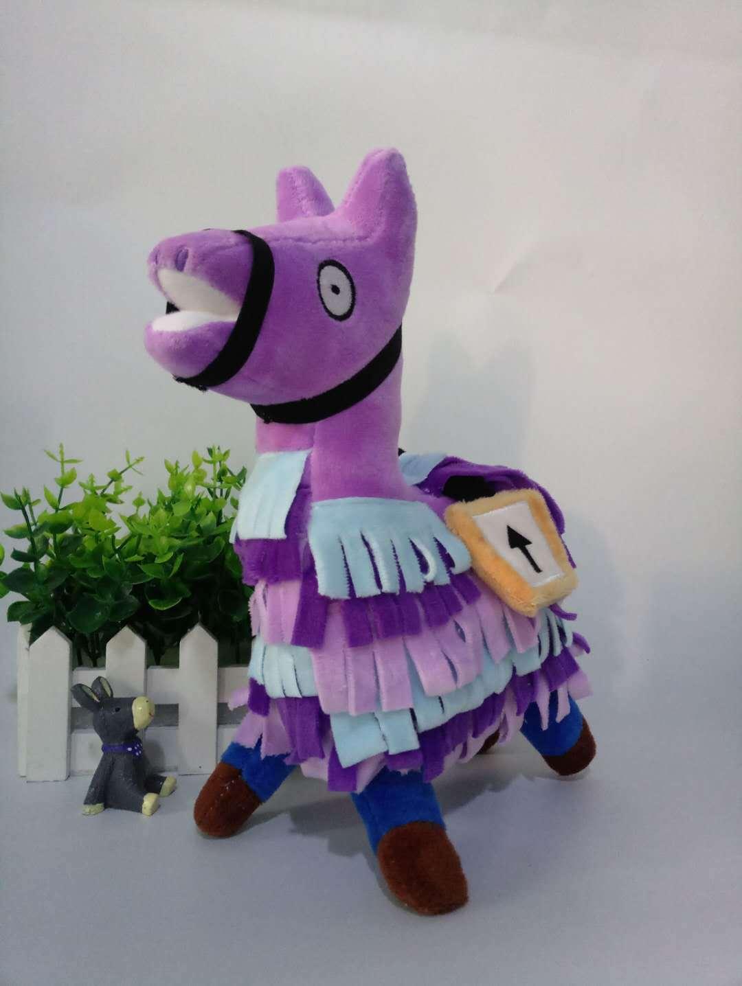 Hot Selling Mobilefortress Night fortnite Plush Doll Game Related Grass Mud Horse Alpaca rong wan ju Doll