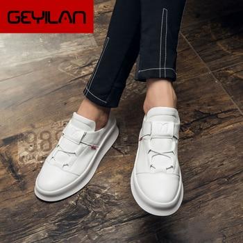 Casual Shoes Men Leather Platform Loafers Men Shoes Luxury Brand Designer Shoes Mens Winter Sneakers Zapatos De Hombre Ayakkabi