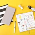 Креативный Еженедельный блокнот «сделай сам»  чистый цвет  карманный дневник  планер  дневник  бумажная бумага  подарки  школьные канцелярс...