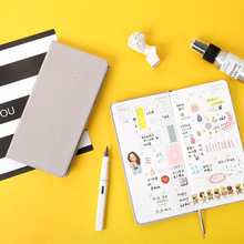 Caderno de plano semanal criativo, cor pura, diário planejador, nota, presentes, escola, escritório, artigos de papelaria