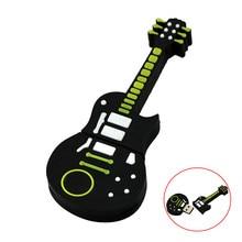 Gitar usb flash sürücü 4GB 8GB 16GB 32 GB Pendrive 64GB 32 128 256 gb kalem sürücü usb2.0 anahtar müzik aleti kordon USB sopa