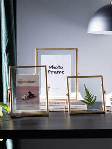 Frame Decorative-Frame Picture-Poster-Frame Painting Photo-Cube Wall Metal Gold Black