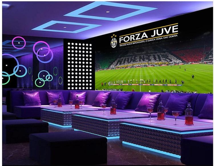 Custom Photo 3d Room Wallpaper Football Stadium KTV Background Wall Painting 3d Wall Murals Wallpaper For Walls 3 D