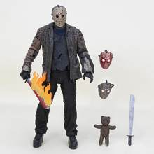 20 centímetros Figura NECA Horror filme Friday Jason Voorhees Brinquedos PVC Figuras de Ação Collectible Modelo Toy Dolls para presente(China)
