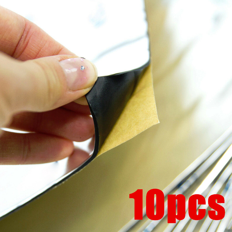 10pcs 2mm Car Trunk Sound Insolation Lid Accessory Tool Audio Panel Absorber Plate 200mm*100mm Sound Insulation Shock Stop Plate