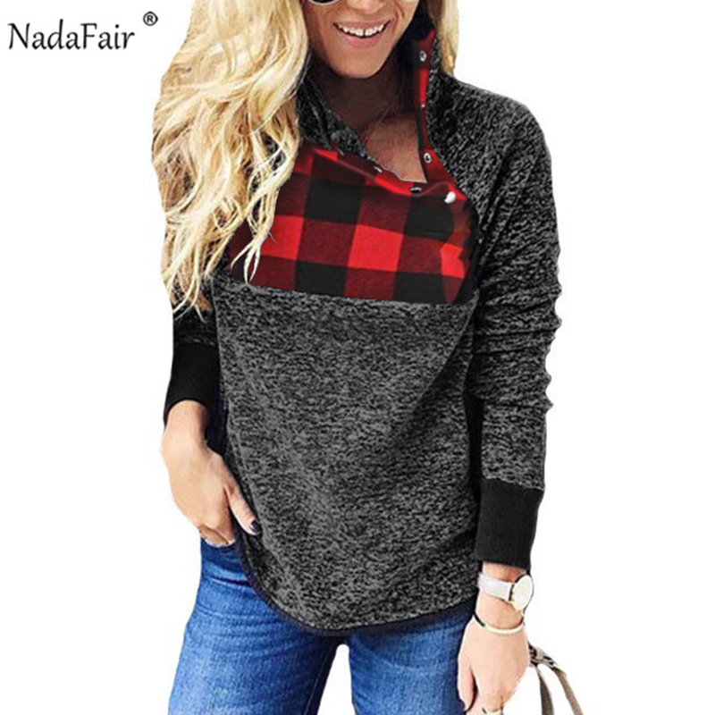 Nadafair Fleece Oversized Hoodie Women Autumn Faux Fur Patchwork Turtleneck Casual Plus Size Sweatshirt Female  Winter Pullovers