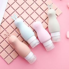 1pc Portable Squeeze Multi-function Cartoon Bottle Silicone Travel Bottles Liquid Makeup Container for Lotion Shampoo Bath