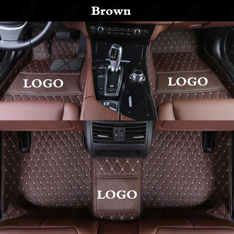 Araba paspaslar Mercedes Benz GLE sınıfı 2015-2019 GLE350 GLE450 AMG 5 7 koltuk su geçirmez oto halı kapak kilim gömlekleri kahverengi
