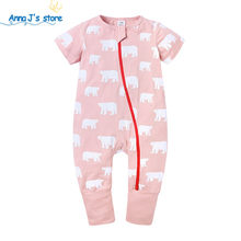 Newborn baby clothes baby romper summer clothes costume romper Kids Tales brand Cartoon bear pink rompers 0-24M jumpsuit ppy539(China)