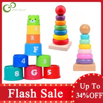 Dziecko układanie kubek kolor tęczowy pierścionek do łączenia wieża zabawki wczesna edukacja zabawka rozwijająca inteligencję urodziny dzieci prezent na boże narodzenie ZXH tanie i dobre opinie CN (pochodzenie) Urodzenia ~ 24 Miesięcy 8 ~ 13 Lat 14Y 2-4 lat 5-7 lat Dorośli