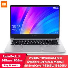 מקורי Xiaomi RedmiBook מחשב נייד 14 אינץ 8th Intel Core I7-8565U i5-8265U NVIDIA GeForce MX250 8G RAM 256G 512GB SSD מחברת(China)