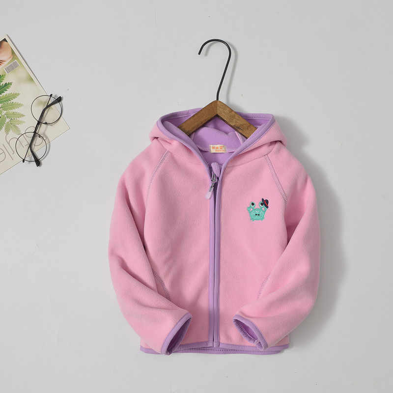 2019 Boys Girls Cute Soft Polar Fleece Hoodies Jacket for Girls Children Spring Autumn Outwear Teenagers Kids Coat Vest Trousers