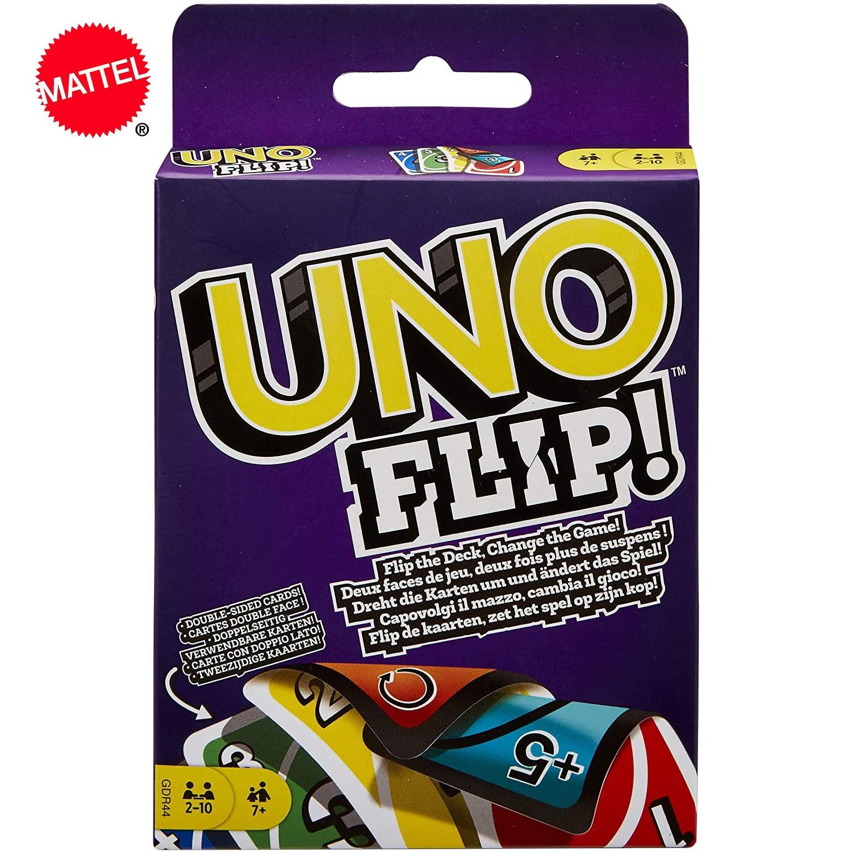 Mattel UNO Flip! Веселая настольная игра, веселая мультиплеерная игра, игра, карточные игры и игрушки UNO