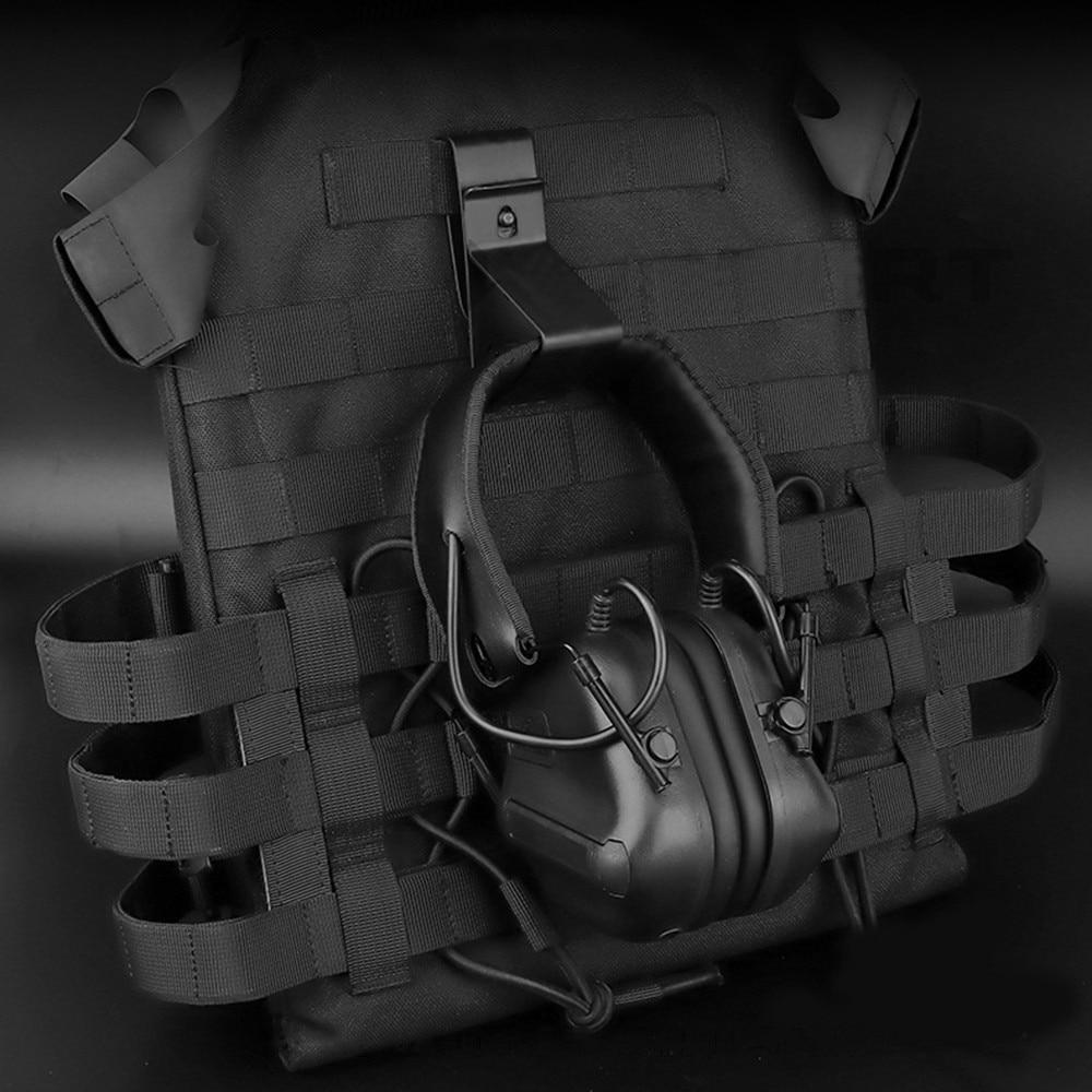 Тактический гарнитура висячая Пряжка Крюк Зажим для ремня MOLLE пояс Quick release мобильный телефон держатель-5