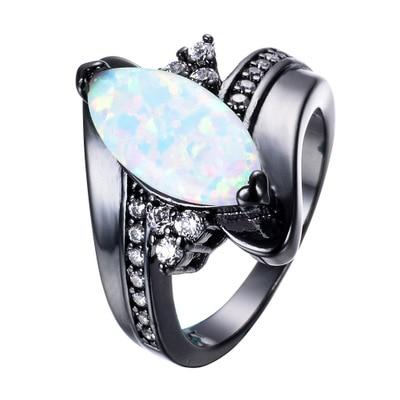 Горячая Распродажа, дизайн, роскошное большое овальное CZ кольцо золотого цвета, обручальное кольцо, хорошее ювелирное изделие для женщин, ювелирных изделий - Цвет основного камня: white