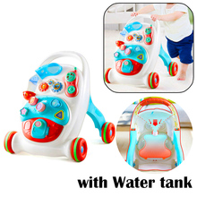 Baby Walker with wheel car Toy Toddlers Baby First Step Multi-Function Trolley Walker Sit to Stand Musical Walker