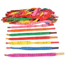 100 x Assorted Colors Long Rocket Balloons with Tube Party Fillers Fun Toys Kids party decoration GIFT