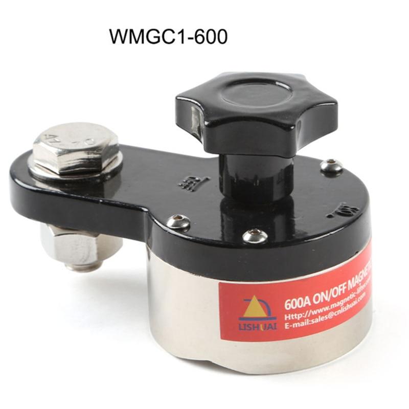 Вкл/Выкл Магнитный сварочный Заземляющий зажим редкоземельный переключаемый Магнитный сварочный держатель 600A