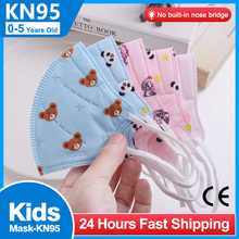 5 Layers 0-5 Aged Infantil Mascarillas No Nose Bridge Kids Mask FPP2 Approved Cartoon KN95 Children Face Masks Filter FFP2Maski