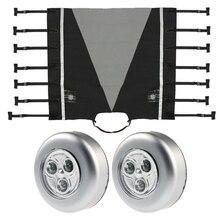 Водонепроницаемый Универсальный караван Передняя буксировочная крышка сцепка Крышка протектор сцепка замок сцепления крышка с 2x светодиодный защитный свет для RV
