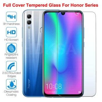 Перейти на Алиэкспресс и купить 9H Защитное стекло для Huawei Honor 20 10 9 Lite Honor 30 30S V30 V20 V10 V9 Play закаленное защитное стекло для экрана Защитная пленка