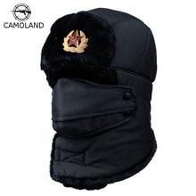 Winter Warm Earflap Bomber Hats Caps Scarf Men Women Russian