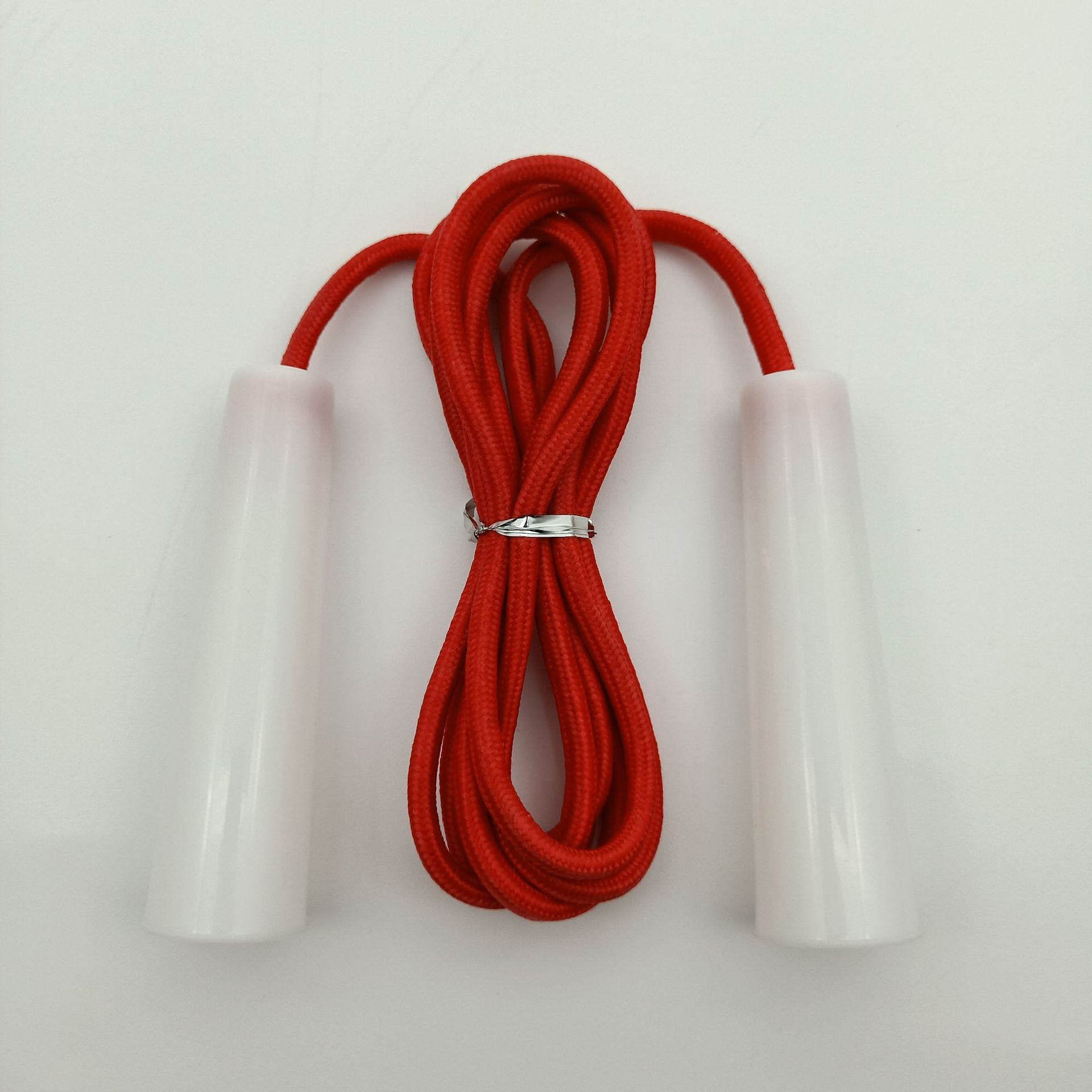 Liang Jian Manufacturers Direct Selling Foreign Trade Processing Customizable-Jump Rope Big Horn Plastic Handle Monochrome Cotto
