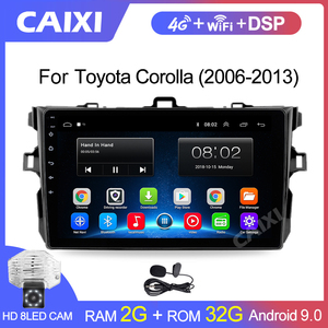 Image 1 - 9 Inches 2din Android8.1 Car Radio Multimedia Player For Toyota Corolla E140/150 2008 2009 2010 2011 2012 2013 Stereo navigation