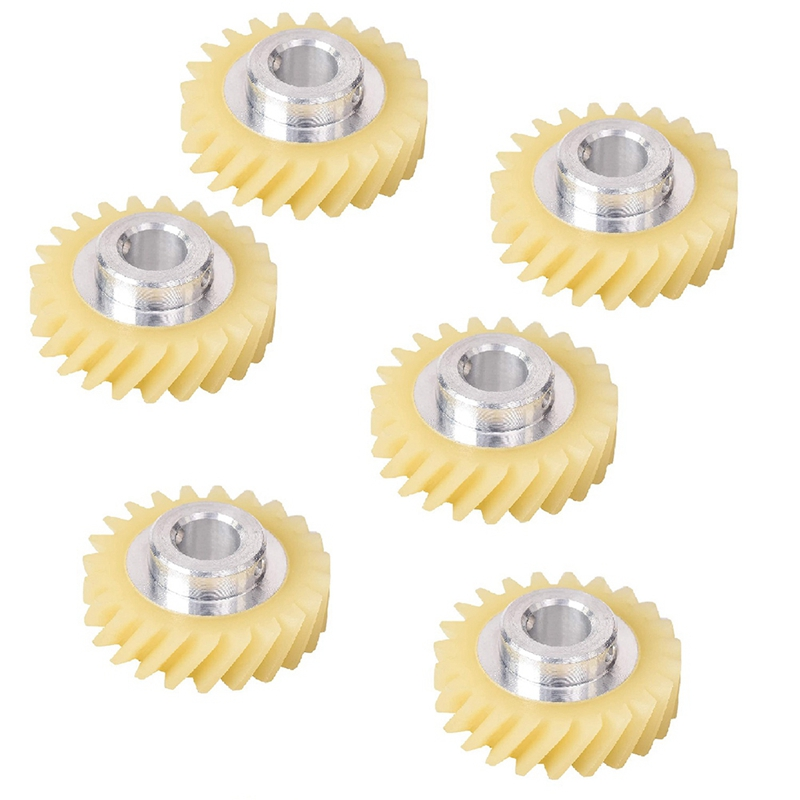 SANQ 6Pcs W10112253 Mixer Worm Gear Replacement Part Exact Fit for KitchenAid Mixers Whirlpool & KitchenAid Mixers
