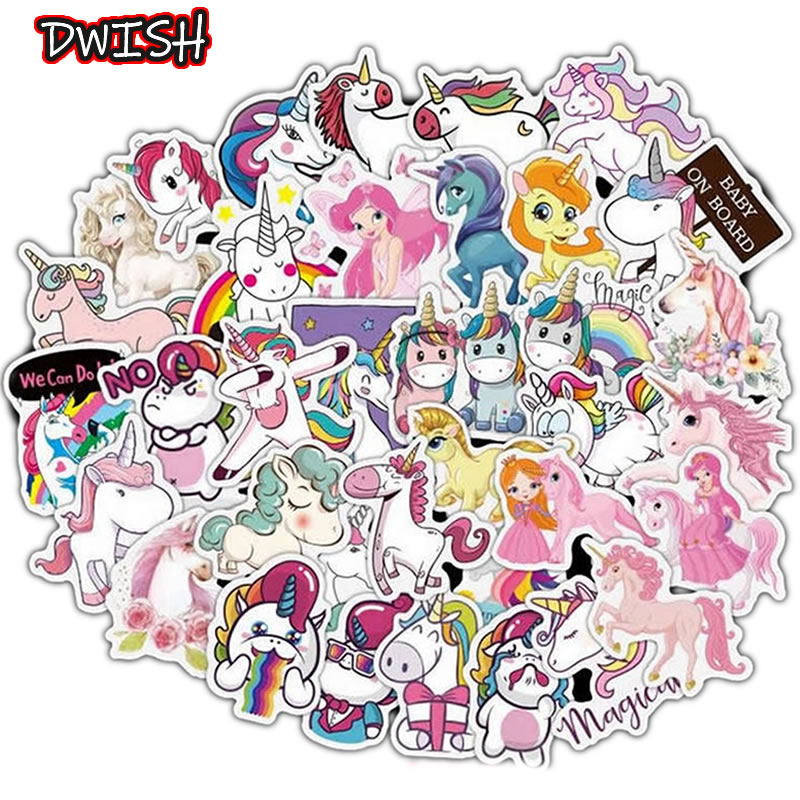 10/30/50pcs Classic Animal Unicorn Waterproof DIY Stickers Skateboard Guitar Suitcase Laptop Motorcycle Graffiti Sticker Kid Toy