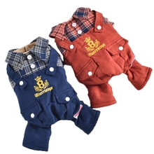 Coat Yorkshire Four-Leg overall Puppies Terrier-Supplies Dogs Winter Fashion Plaid