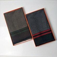 Men Scarves Long Honeycomb Jacquard Pattern Double-sided Warm Luxury Brand Mataborda Imitation Cashmere Scarf Winter Scarf