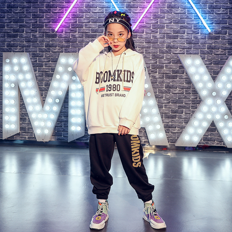 New Children Street Dance Costume Boys And Girls Autumn Hip Hop Practice Clothing Kids Jazz Dance Performance Outfit DQL2273